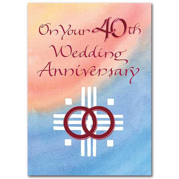 On Your 40th Wedding Anniversary 40th Wedding Anniversary Card