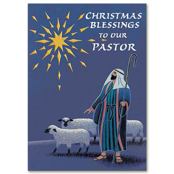 Christmas Blessings To Our Pastor Christmas Card