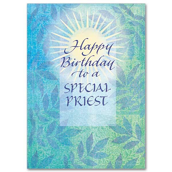 Happy Birthday To A Special Priest Birthday Card For Priest