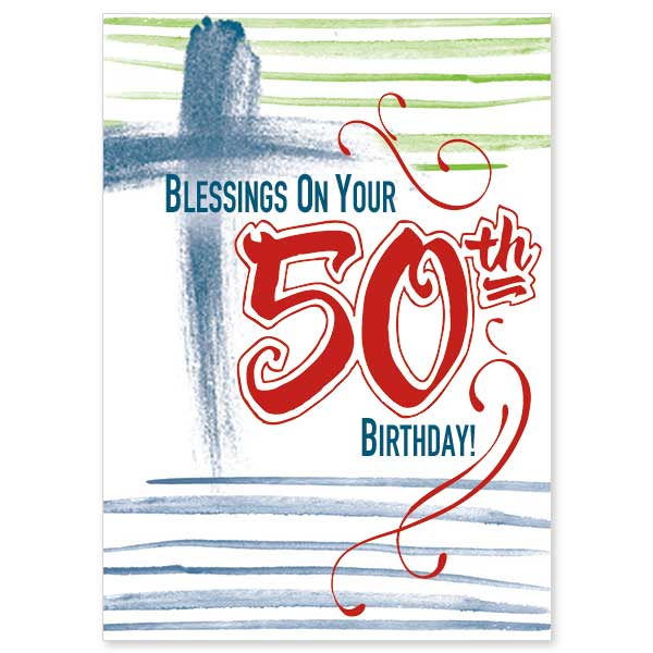Blessings On Your 50th Birthday 50th Birthday Card