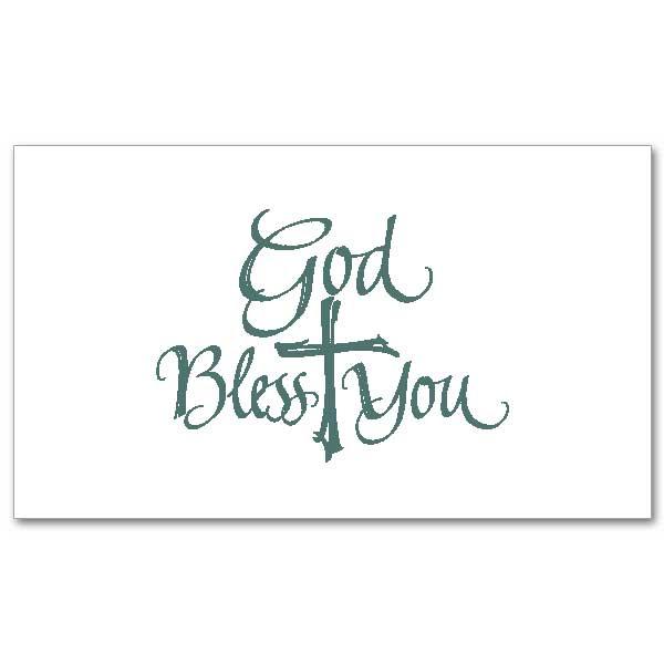 God Bless You: Folded Notes
