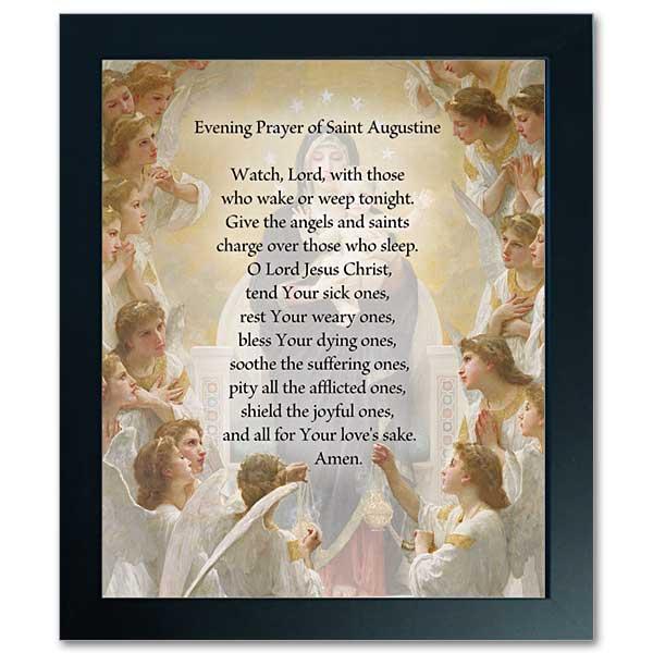 Evening Prayer Of Saint Augustine Framed Print