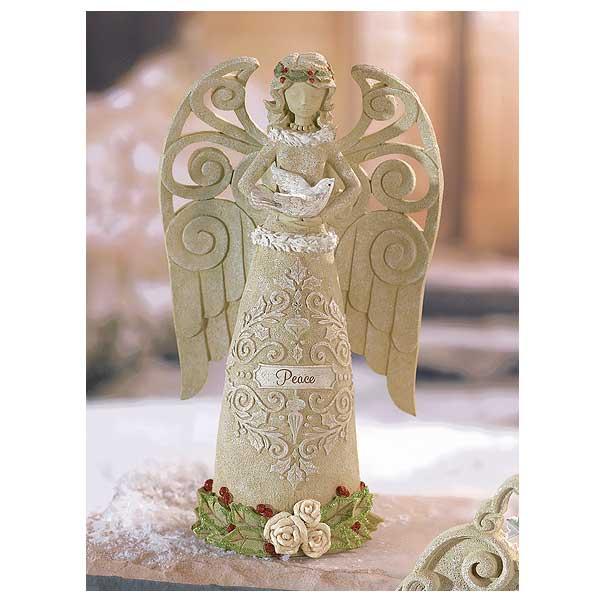 Peace Christmas Angel Statue