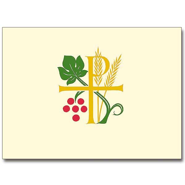 Chi Rho Wheat And Grapes Ordination Invitations