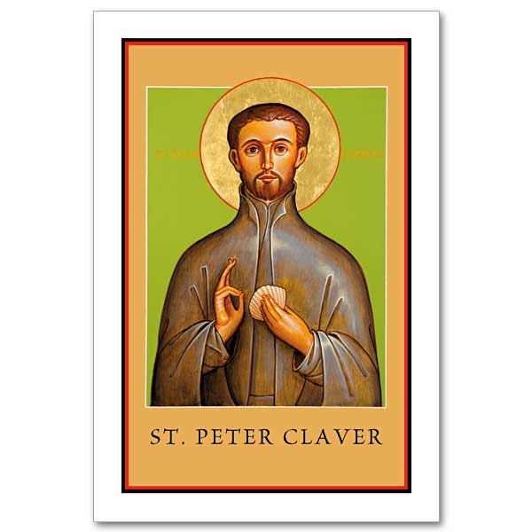 St Peter Claver Icon Holy Card