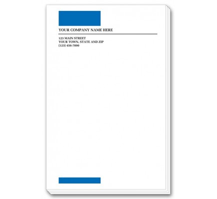 Blue Imprinted Large Memo Pads 3821 At Print EZ.