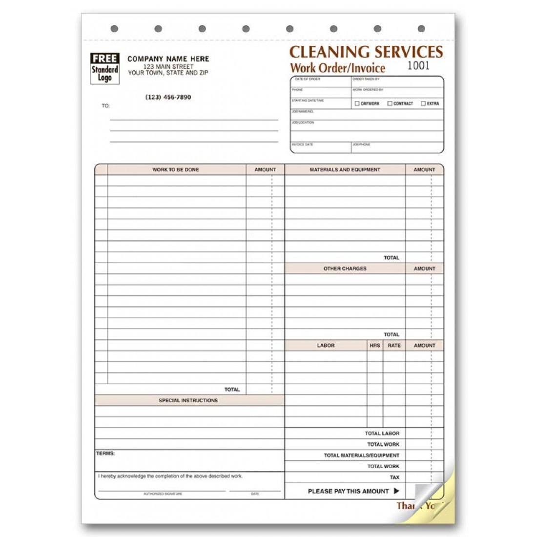 Cleaning Service Invoice Forms