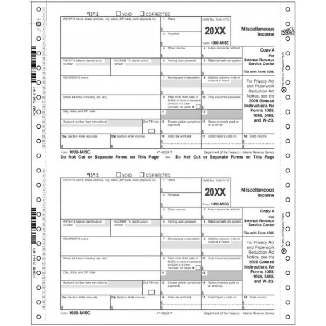Continuous Misc Irs Tax Forms