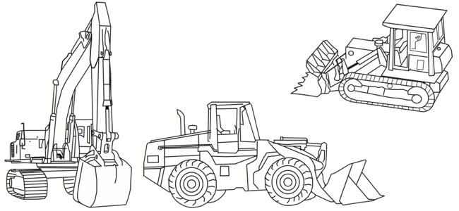 Heavy Equipment Coloring Pages Sketch Coloring Page