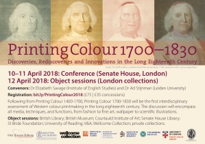 Flier: Printing Colour 1700-1830