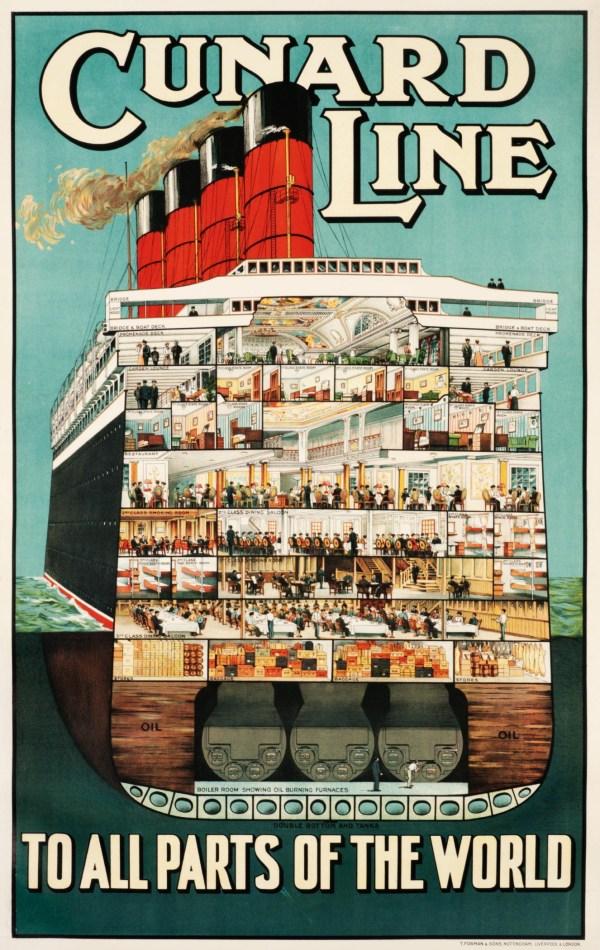 Vintage Cunard Travel Poster
