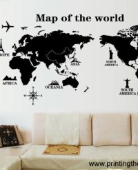 World Map Wall Decal Edmonton Gallery - Word Map Images ...