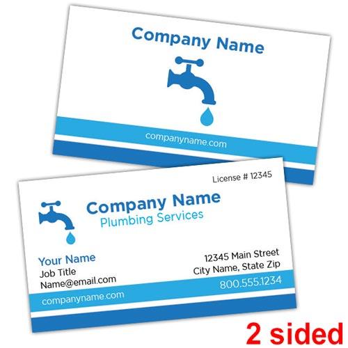 Plumbing Business Cards Printit4less