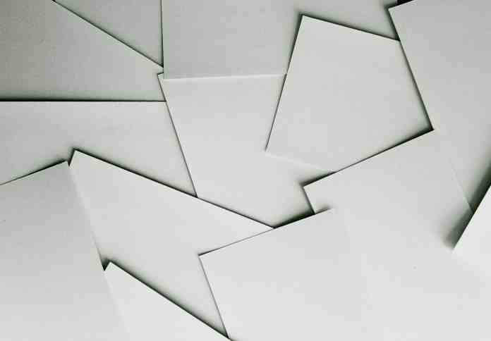 Paper sheets covering a surface