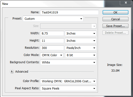 In the pop up that appears in Photoshop, choose GRACoL2006 CMYK