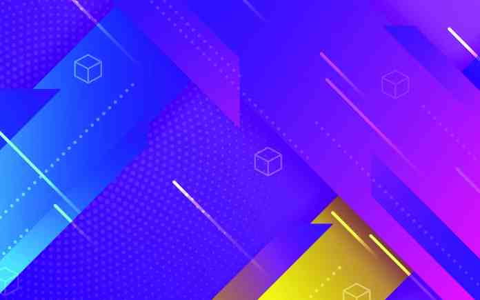 Vivid Blues, purples, and yellow background