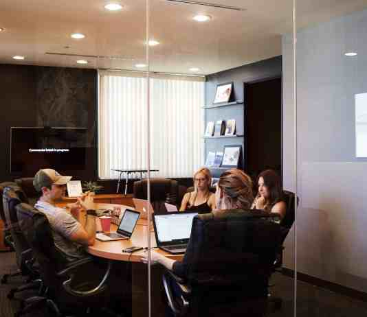 campaign creators sitting in a conference room
