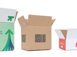 White and kraft shipping boxes