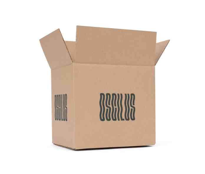 Brown custom printing shipping box