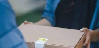 Delivering a custom branded kraft shipping box