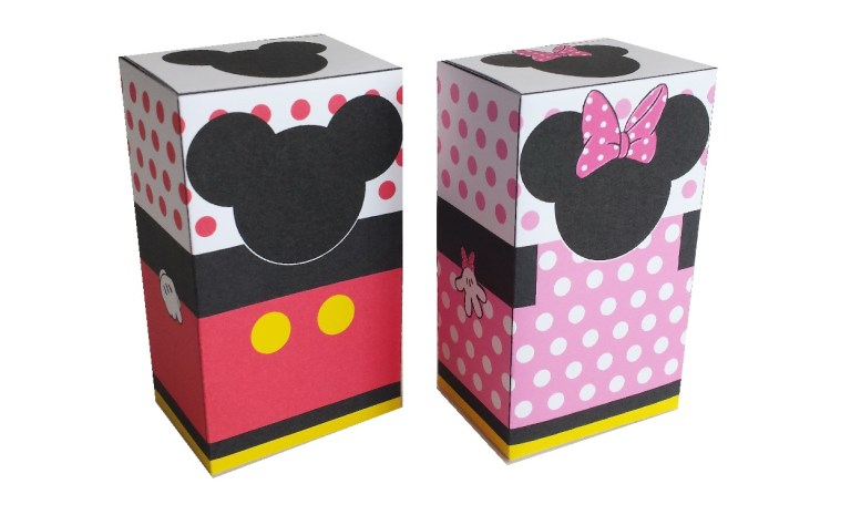 Mickey en Minnie traktatie doosjes