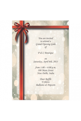 inauguration invitation cards online in