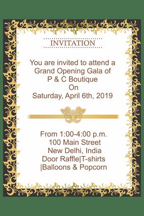 business invitation cards custom