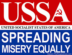 USSA (united socialist states of America)- spreading misery equally