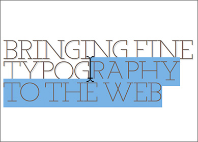 Bringing fine typography to the web