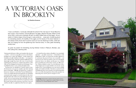 A VICTORIAN OASIS IN BROOKLYN