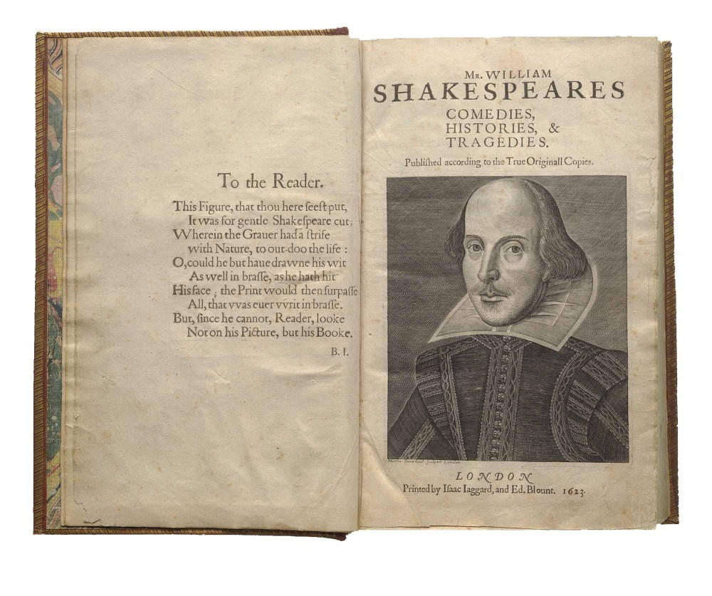 FirstFolio title spread, Folger Library