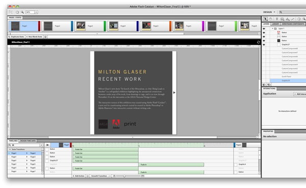 Thumbnail for How We Created Milton Glaser's Slideshow in Flash Catalyst