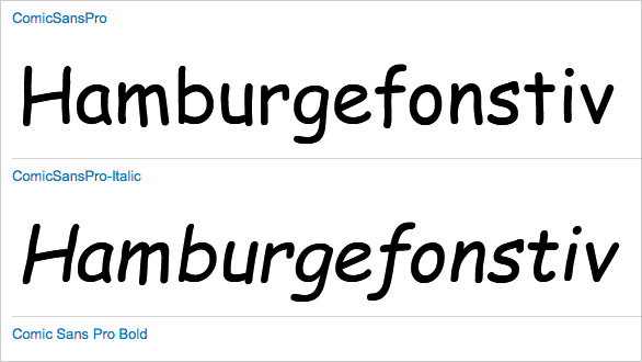 Thumbnail for Today's Obsession: Comic Sans Pro