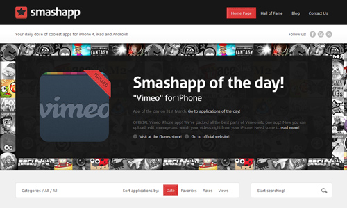 Thumbnail for A Beautiful Site: Smashapp.com