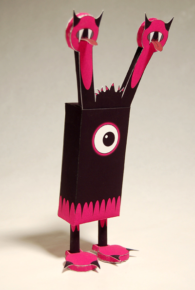 Fiendly the leechoso, the first paper toy monster designed by baykiddead