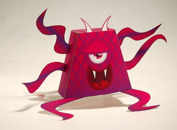 """Gaspar, from the """"little monster"""" paper toy series designed by baykiddead."""