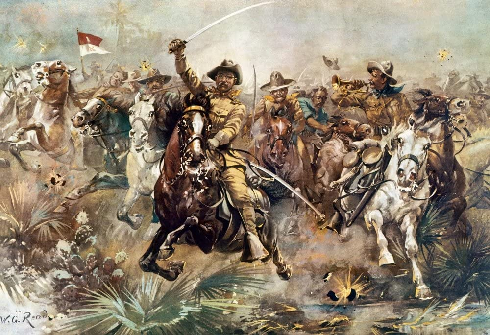 """Theodore Roosevelt """"Rough Riders"""" Lithograph 1898."""