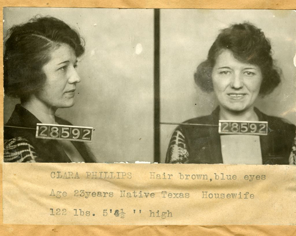 Clara Phillips a.k.a. Tiger Girl, Hammer Murderess. Photo courtesy of LAPL.