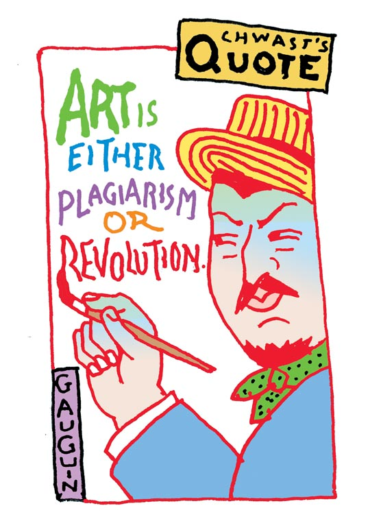 Thumbnail for Chwast's Quote: Words of Wisdom from Seymour Chwast (and Paul Gauguin)