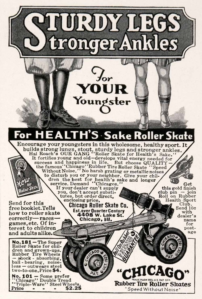 Chicago Roller Skate Company ad