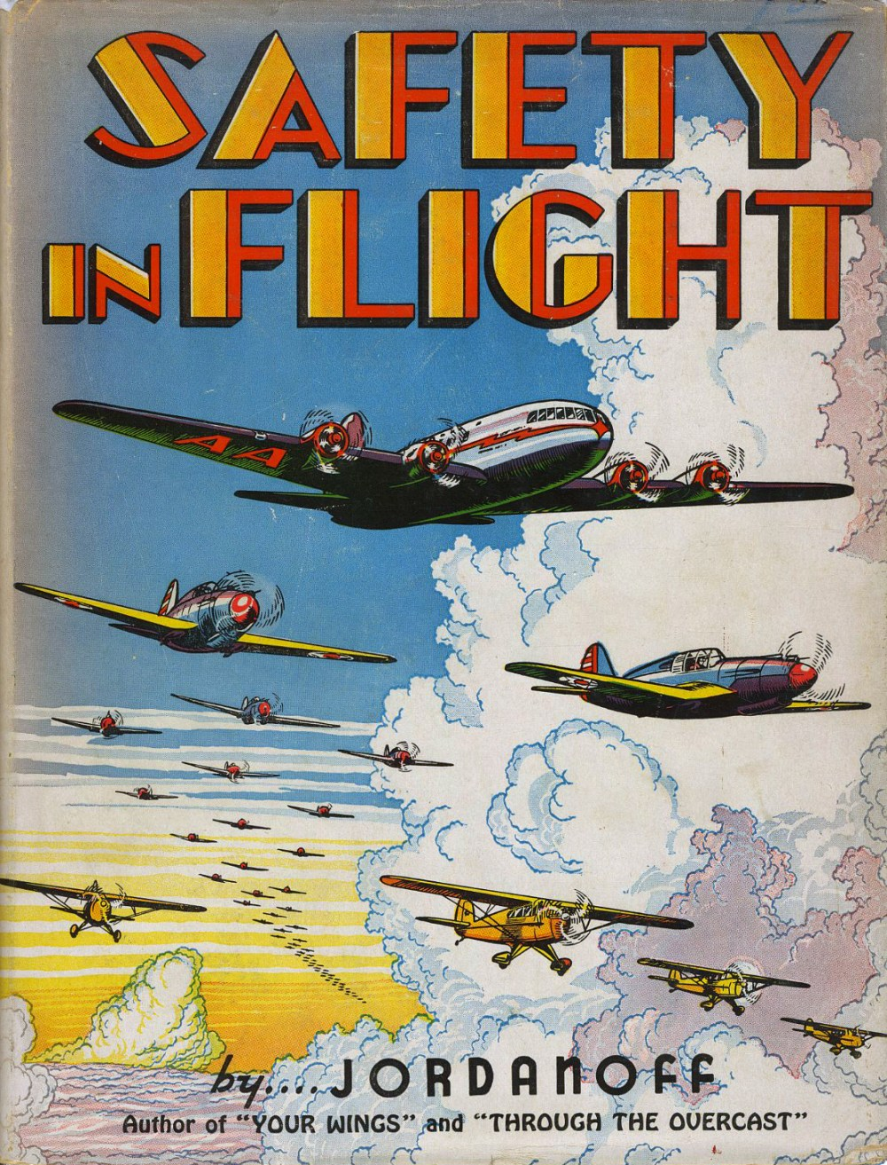 """""""Safety In Flight"""" 1942 dustjacket with design by Fred L. Meagher."""