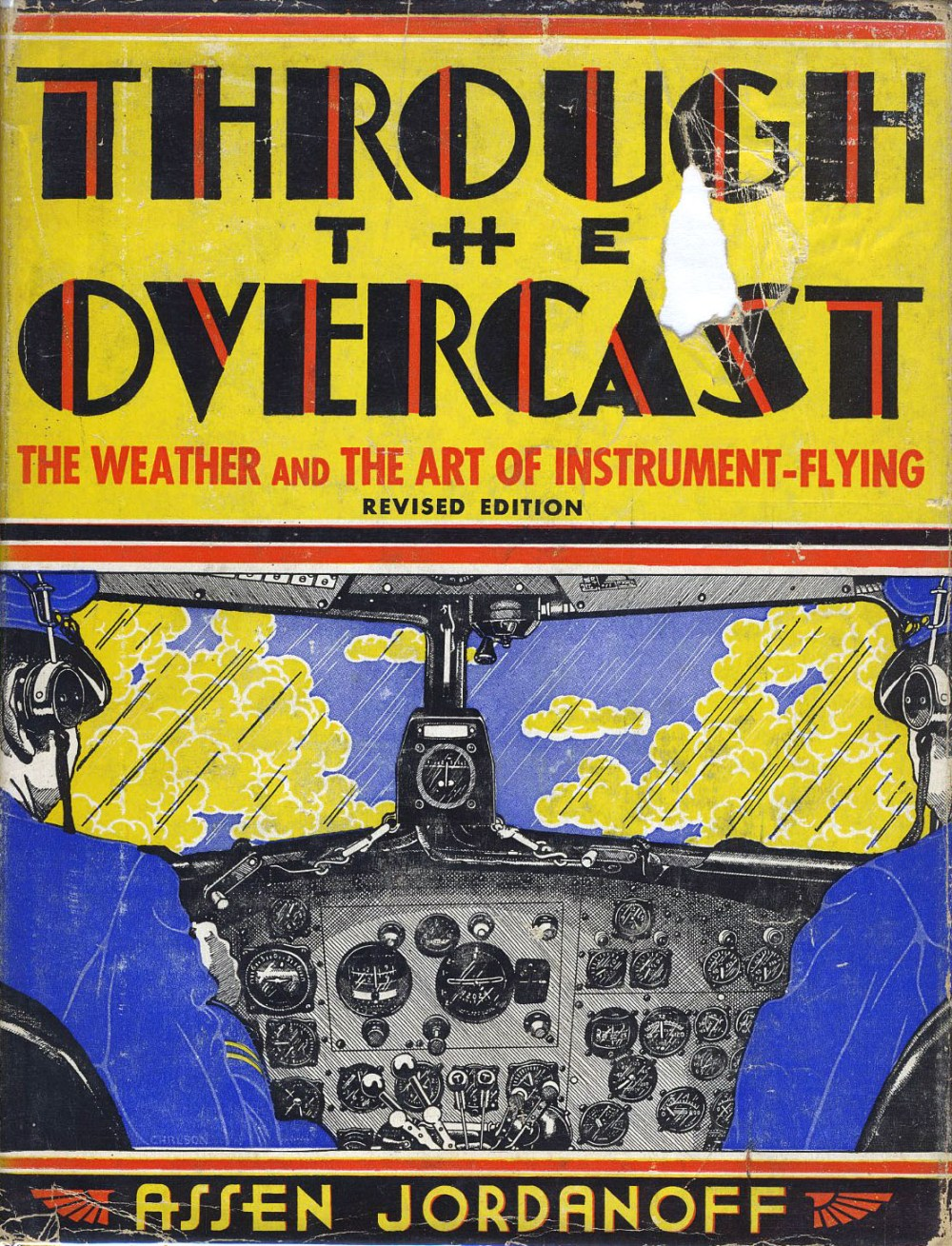 """Dustjacket of """"Through The Overcast"""" 1938 by Carlson."""