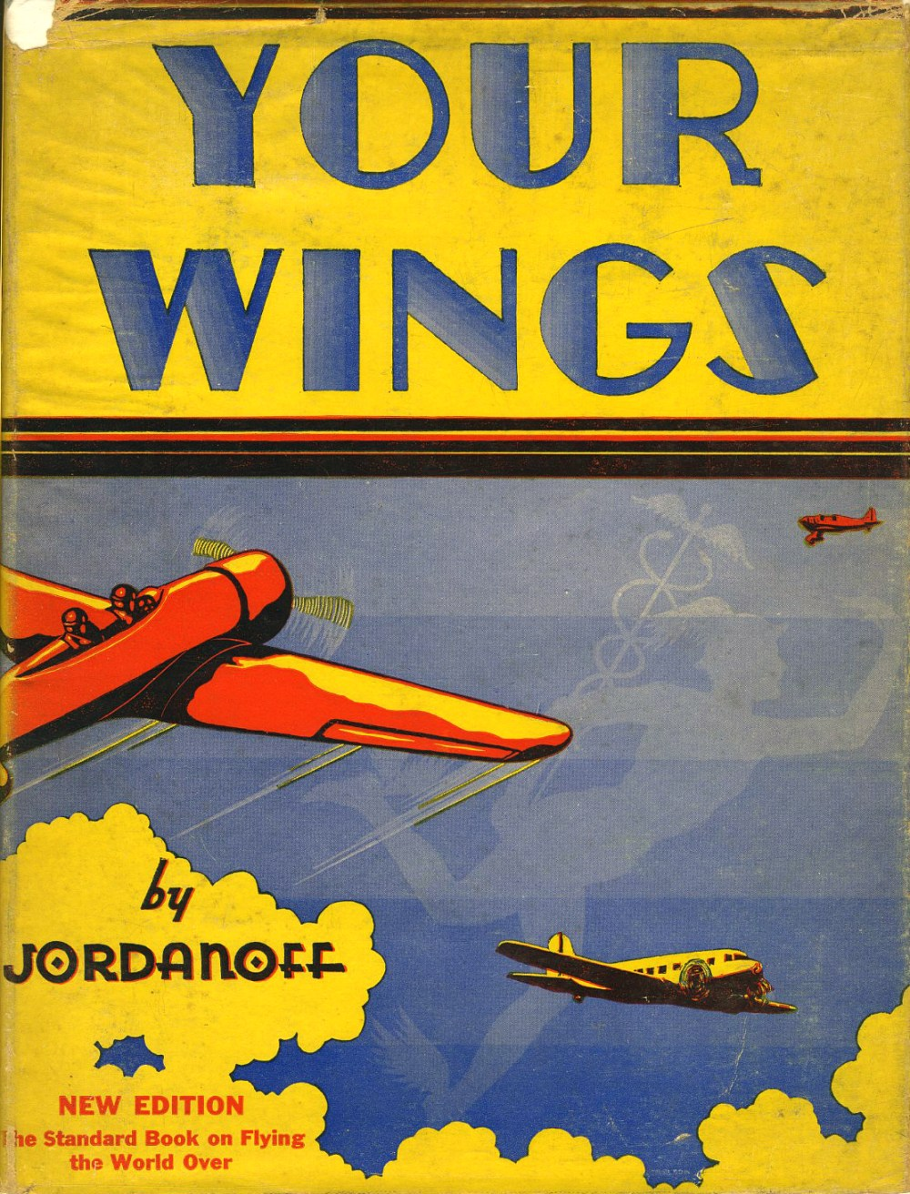 """The dustjacket of """"Your Wings"""" 1936 illustrated by Frank L. Carlson."""