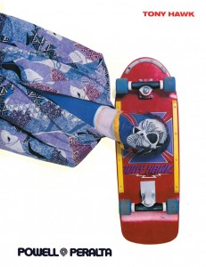 In 1986, they painted a young Tony Hawk in the style of his signature skateboard graphic.