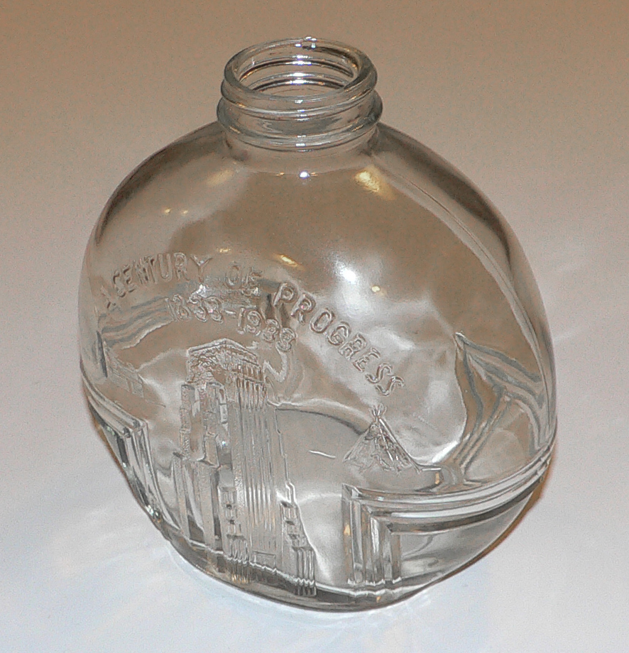 This jar was used by a wide variety of companies – they just stuck their own cap and/or label on it. The customer got a free World's Fair jar with every purchase. . .