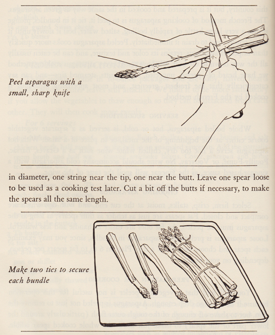 How to Peel Asparagus by Sidonie Coryn