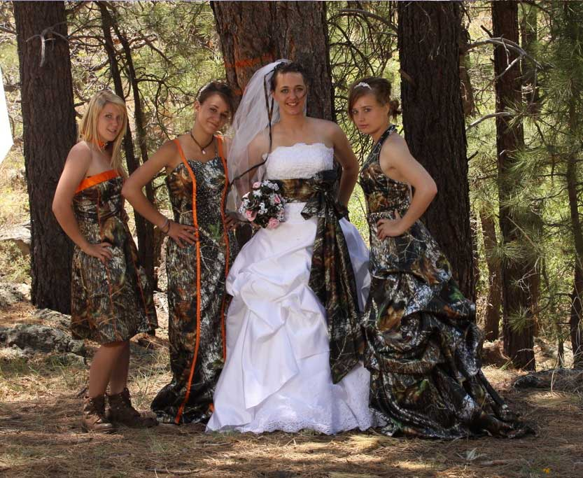 A variety of styles from http://www.ATouchofCamo.com