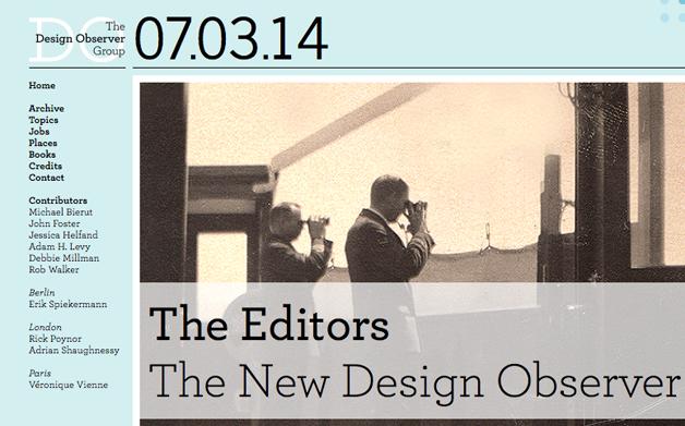 Thumbnail for 07/03/2014: Design Observer site redesign