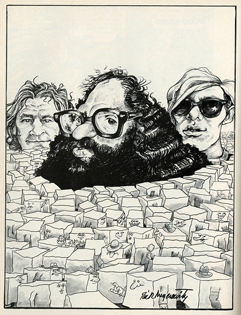 I followed Rick Meyerowitz and copied his caricature styles without success. He later became the first illustrator I ever commissioned work from.