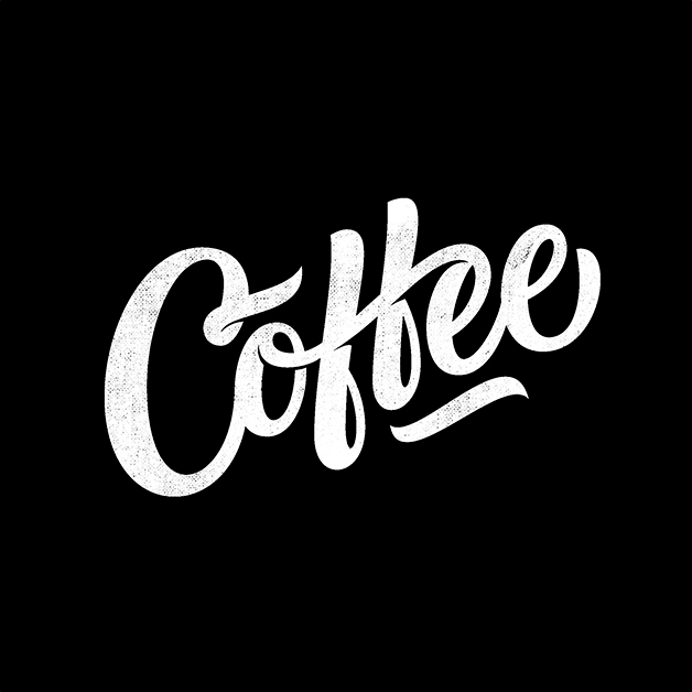 Coffee; lettering